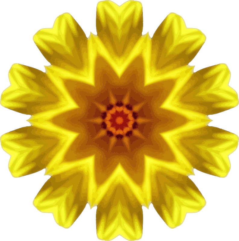 Sunflower kaleidoscope 15