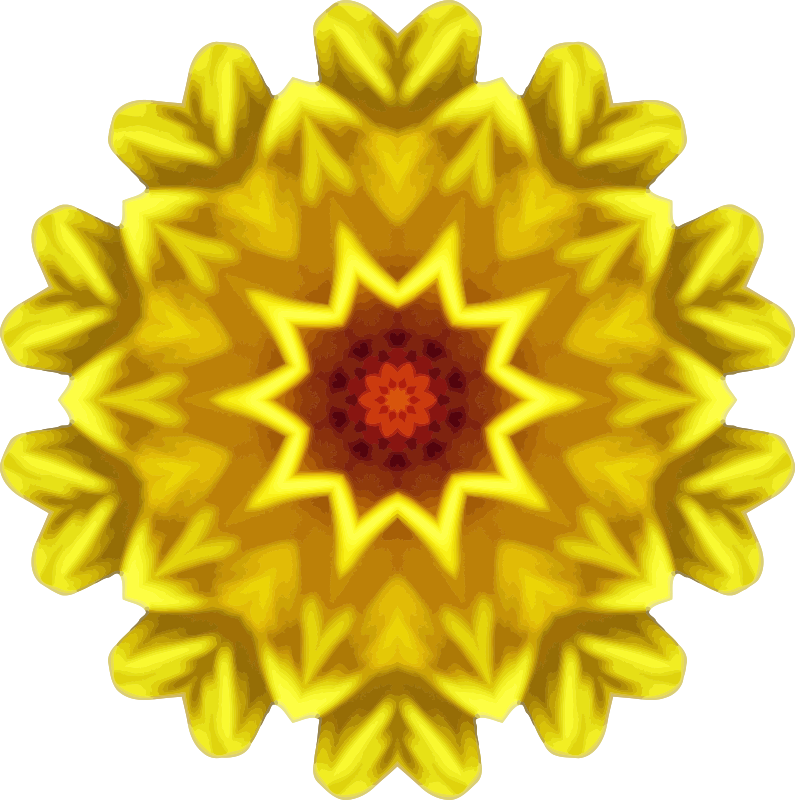 Sunflower kaleidoscope 16