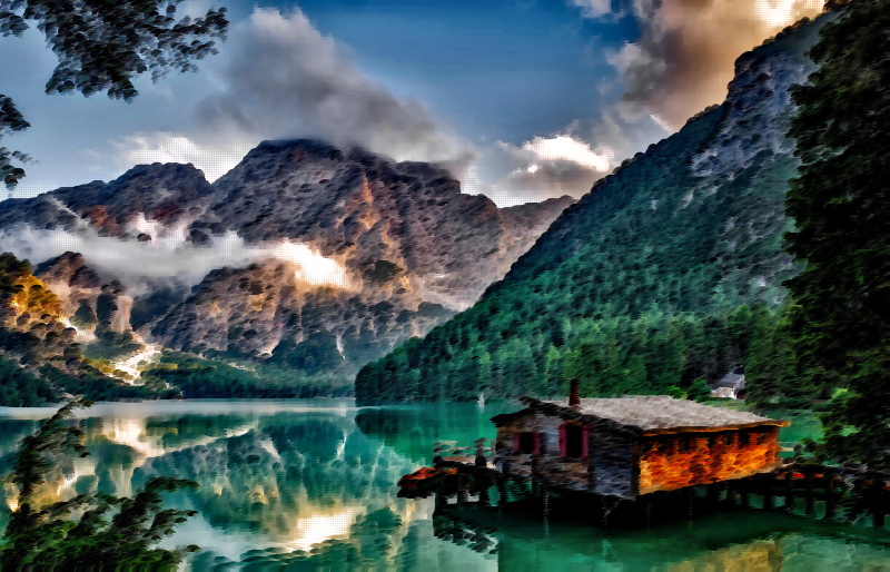 Surreal Italian Lake