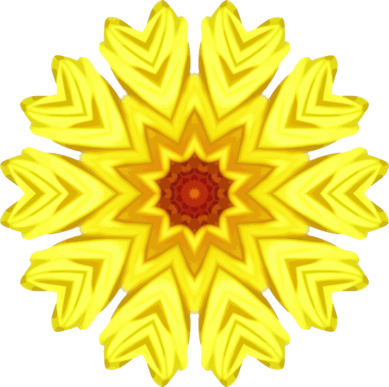 Sunflower kaleidoscope 27