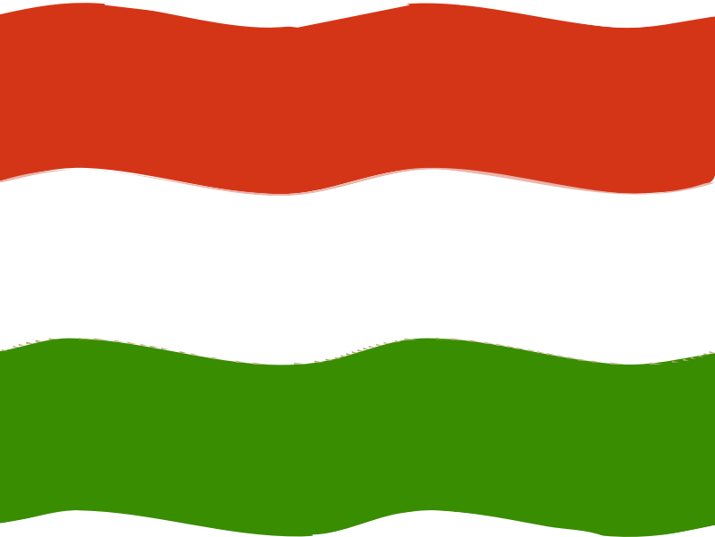 Flag of Hungary wave