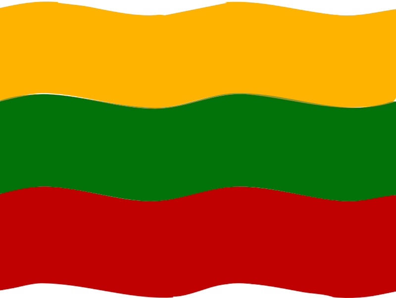 Flag of Lithuania wave