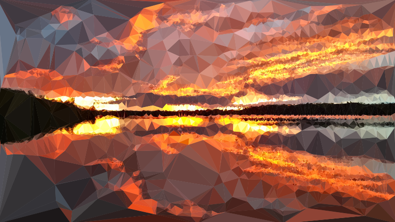 Low Poly Nuclear Sunset