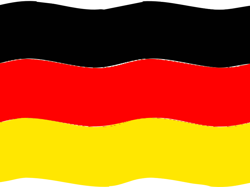 Flag of Germany wave