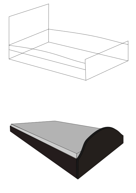 3D Bed, No background