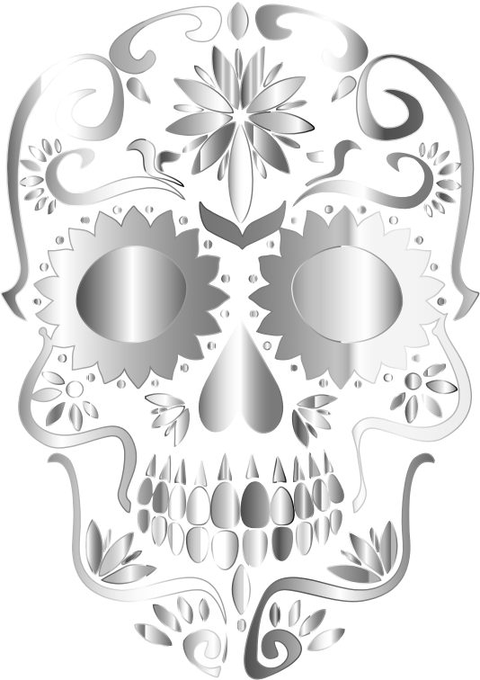 Prismatic Sugar Skull Silhouette 3 No Background