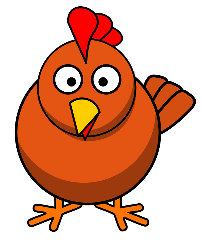 Chicken Round Cartoon