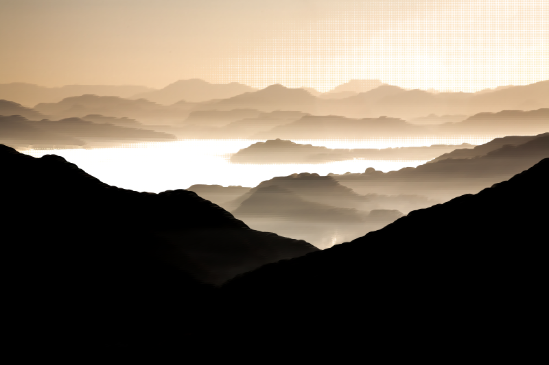 Surreal Misty Valley