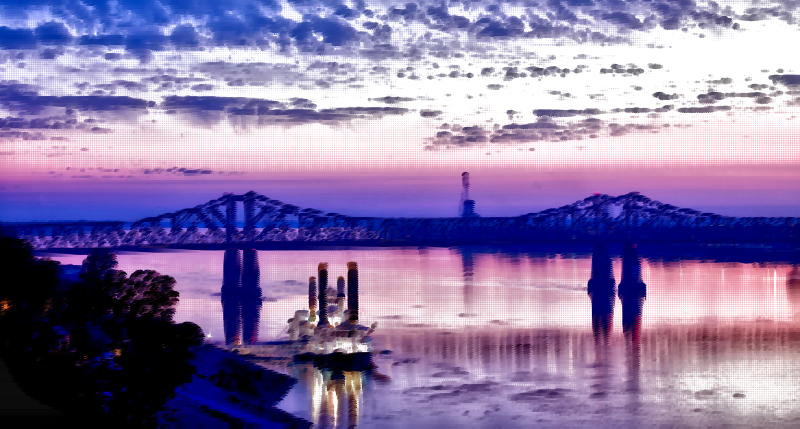Surreal Mississippi River