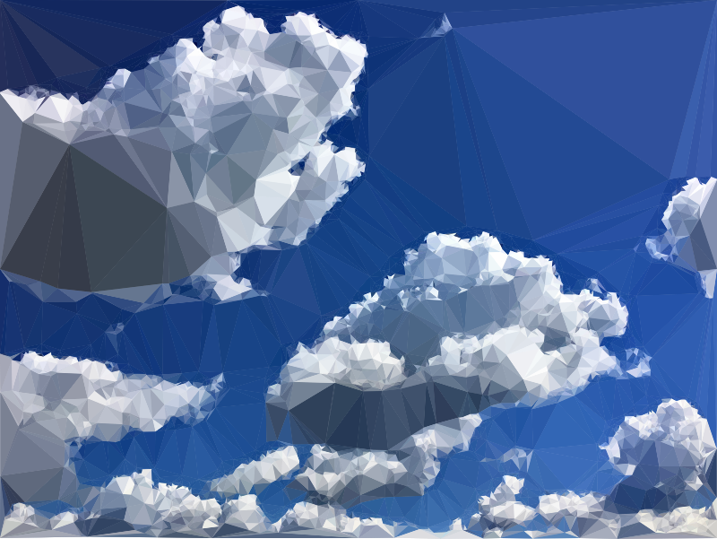 Low Poly Blue Sky 9
