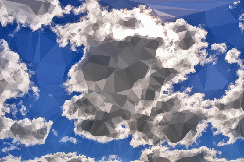 Low Poly Blue Sky 10