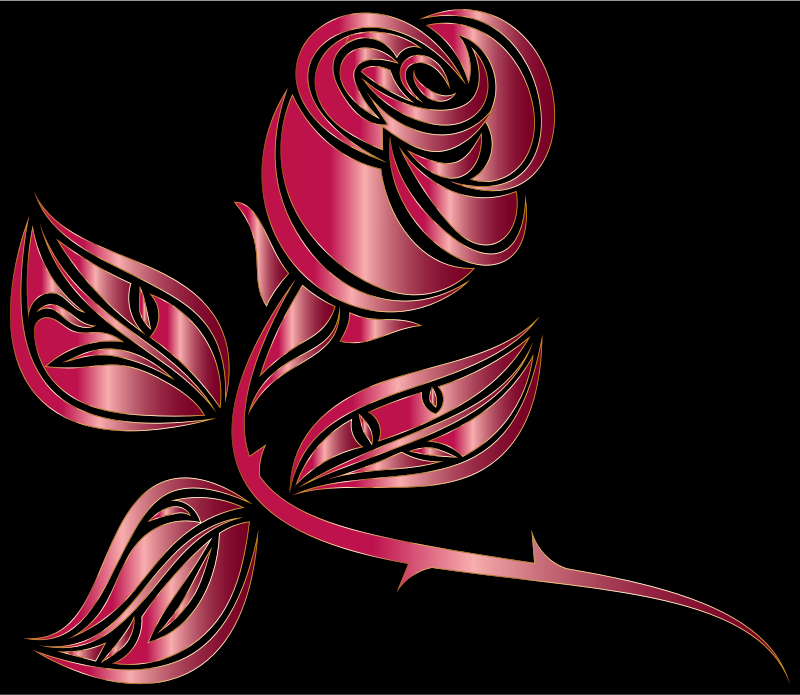 Stylized Rose Extended 4