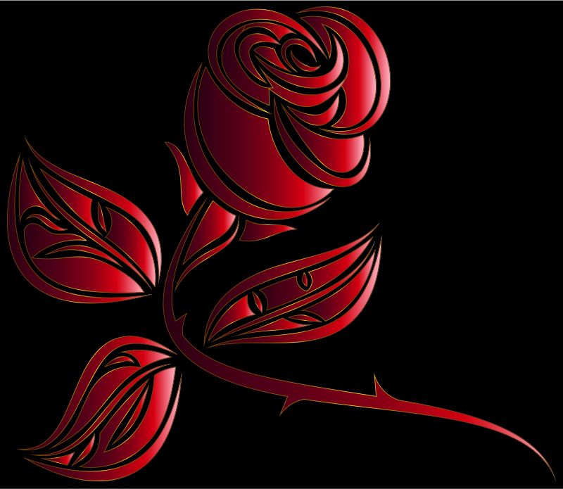 Stylized Rose Extended 8