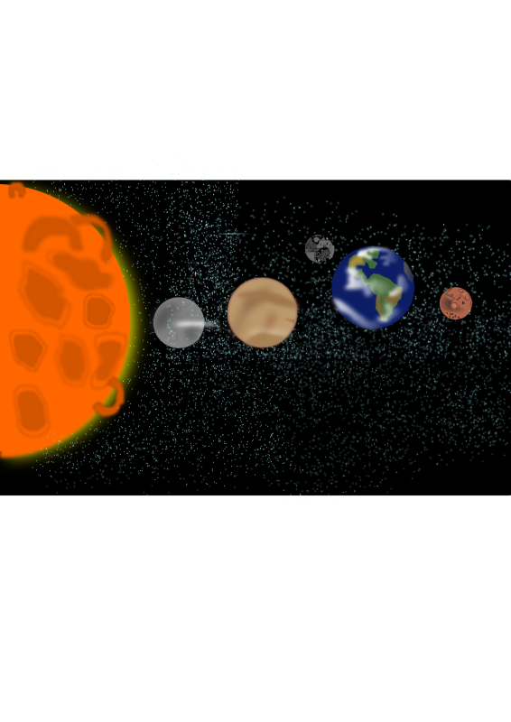Solar system (for illustration