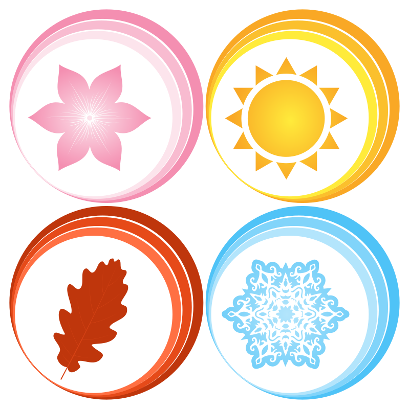 Four seasons symbols