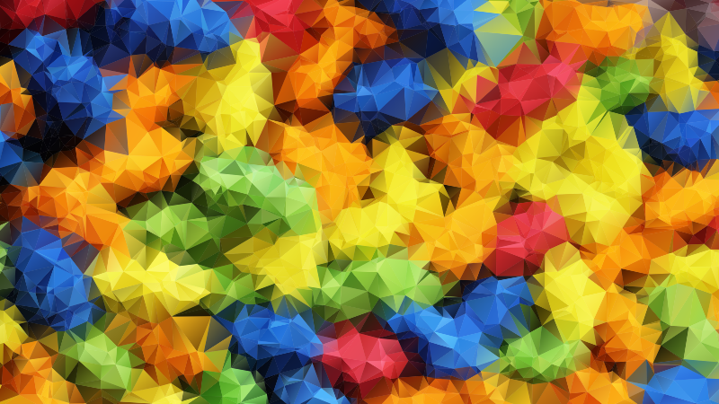 Vivid Prismatic Low Poly Background