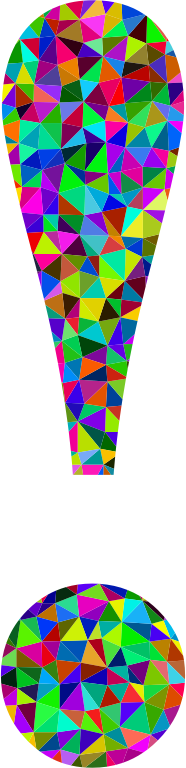 Low Poly Prismatic Exclamation Point