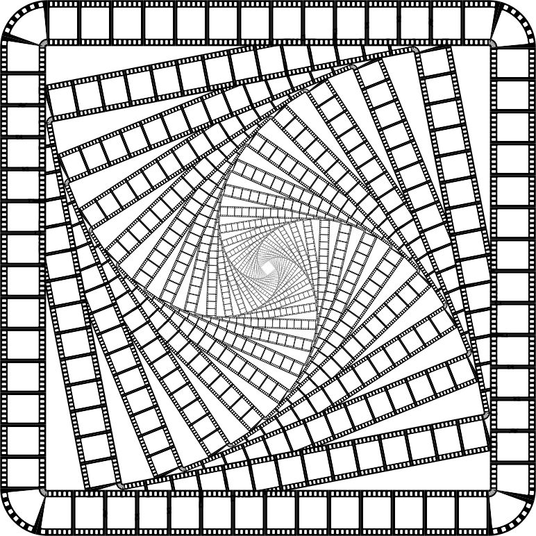 Film Strip Square Frame Vortex