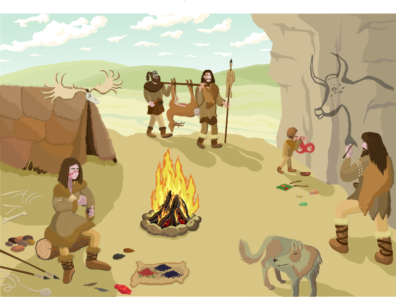 Prehistoric camp