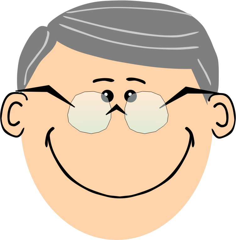 Grandpa with spectacles