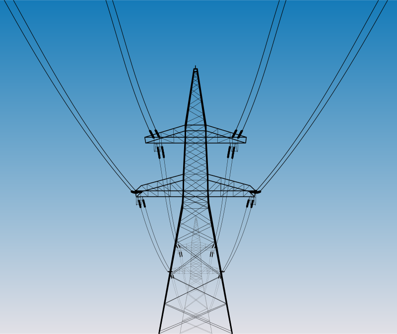Overhead power line by Rones