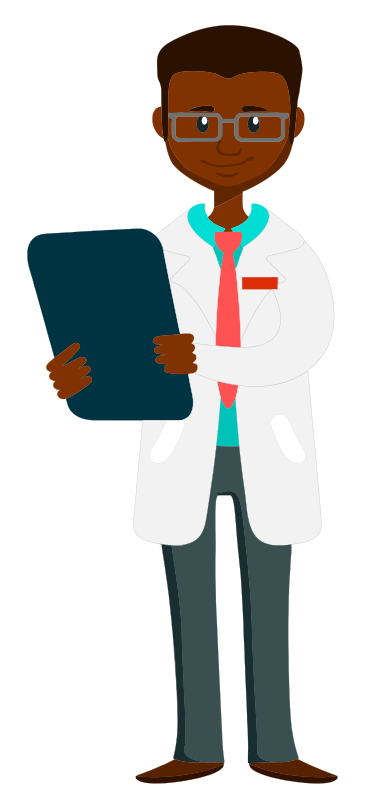 Doctor holding clipboard