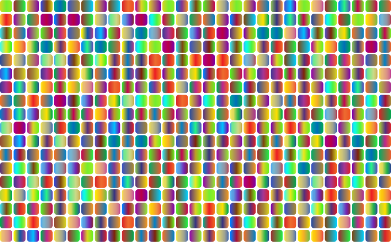 Prismatic Rounded Squares Grid 3 No Background