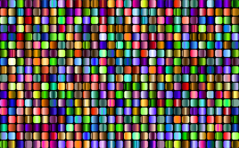 Prismatic Rounded Squares Grid 4