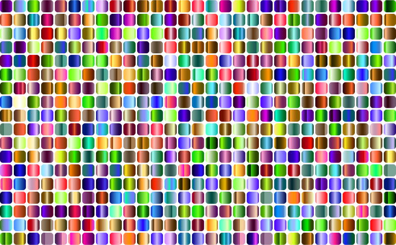 Prismatic Rounded Squares Grid 4 No Background