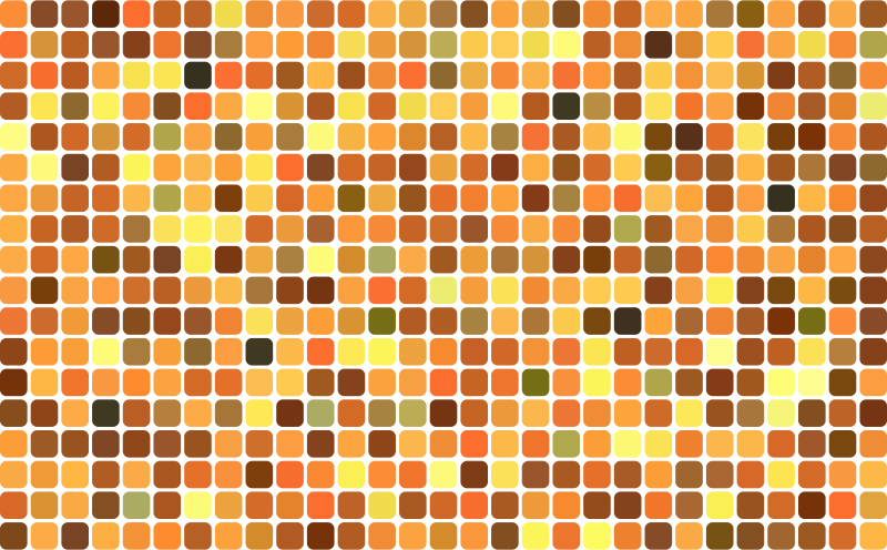 Autumn Theme Rounded Squares Grid
