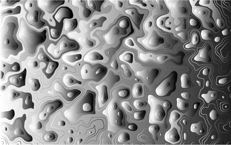 Grayscale Contour Map