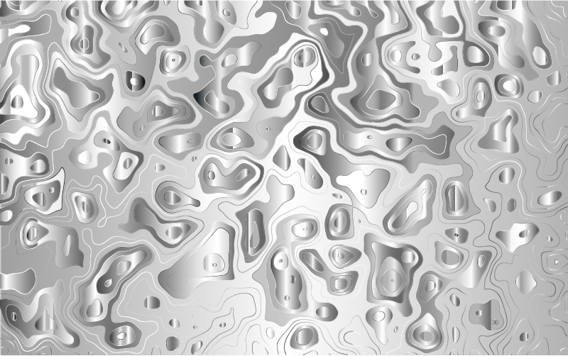 Grayscale Contour Map 2
