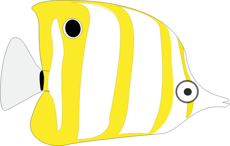 tropical cartoon fish