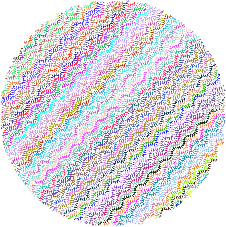 Zig Zag Circle No Background