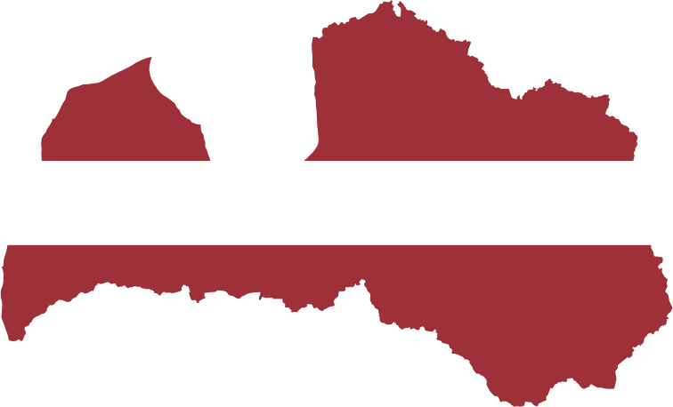 Latvia Map Flag