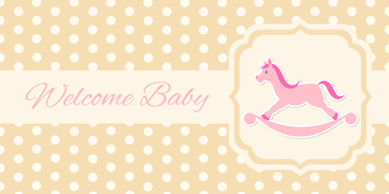 Baby greeting card (girl)