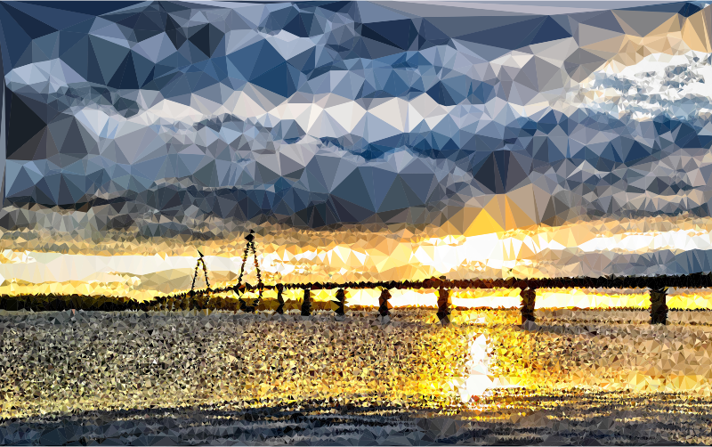 Low Poly Denmark Baltic Sea Bridge