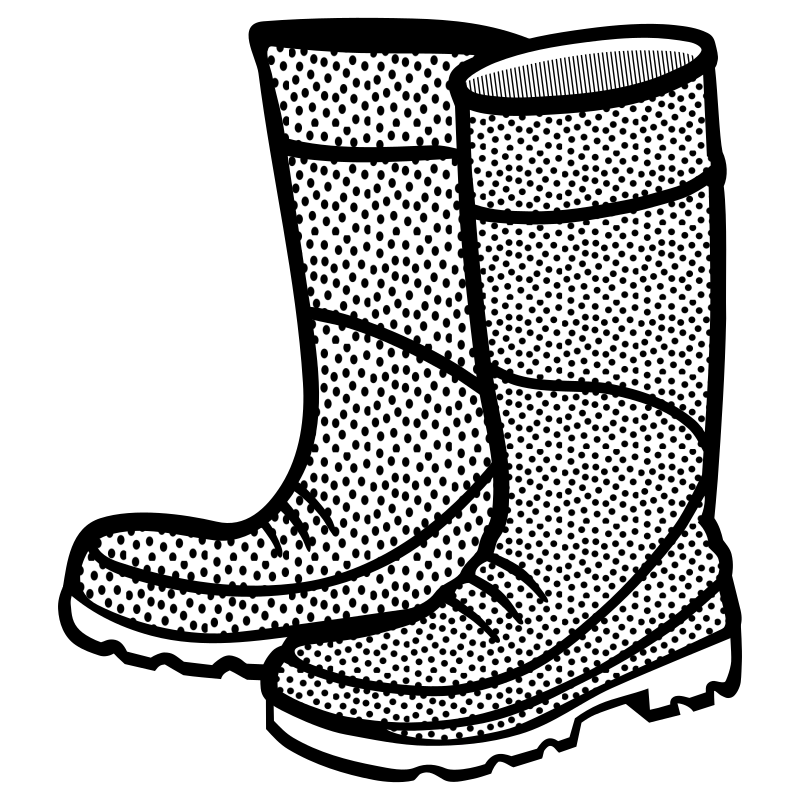 rubber boots - lineart