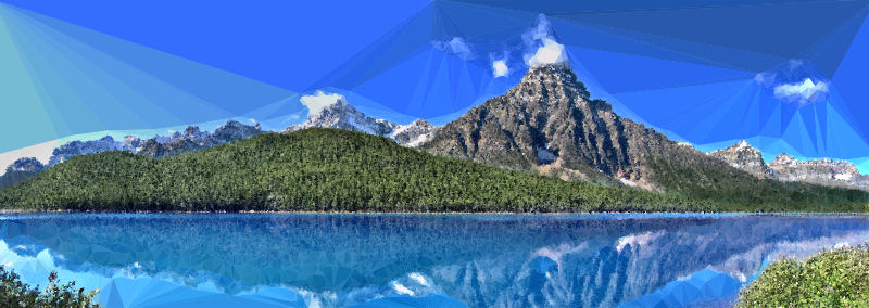Low Poly Canadian Nature Panorama