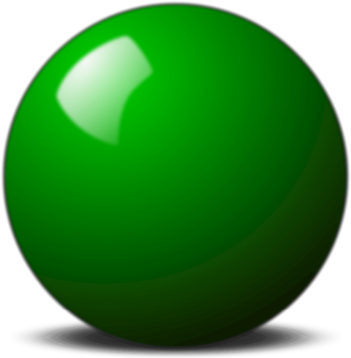 Green Snooker Ball
