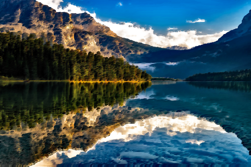 Surreal Canadian Lake
