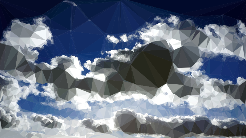 Low Poly Blue Sky 12