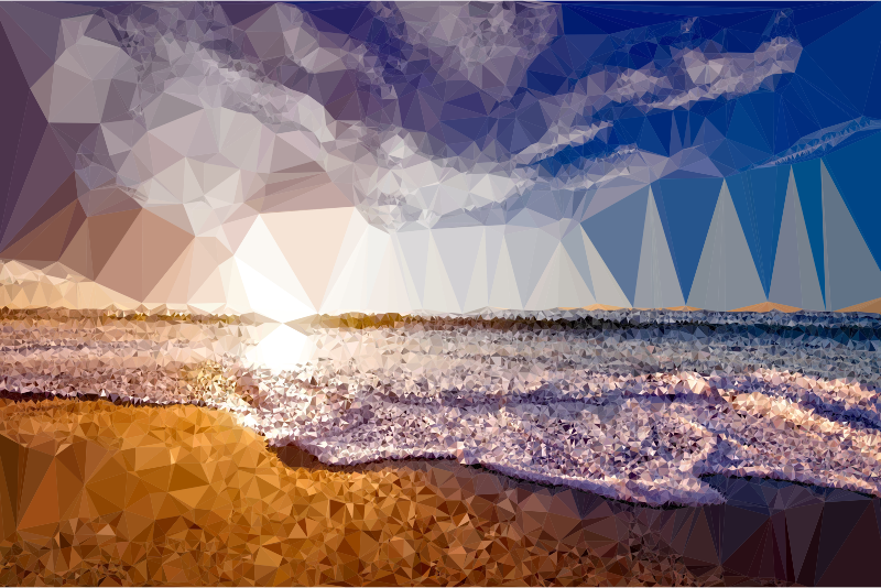 Low Poly Beach Shore