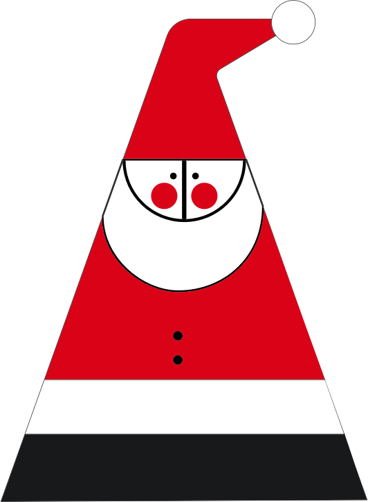 Abstract Santa Claus