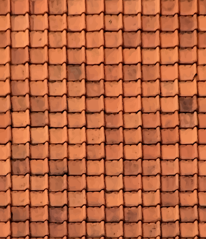 Ribbed roof tiles