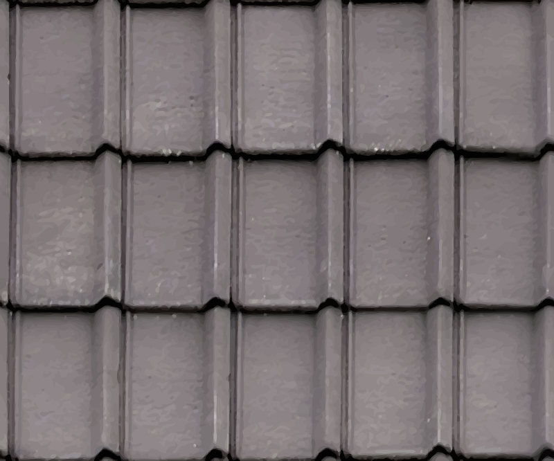 Ribbed roof tiles 2