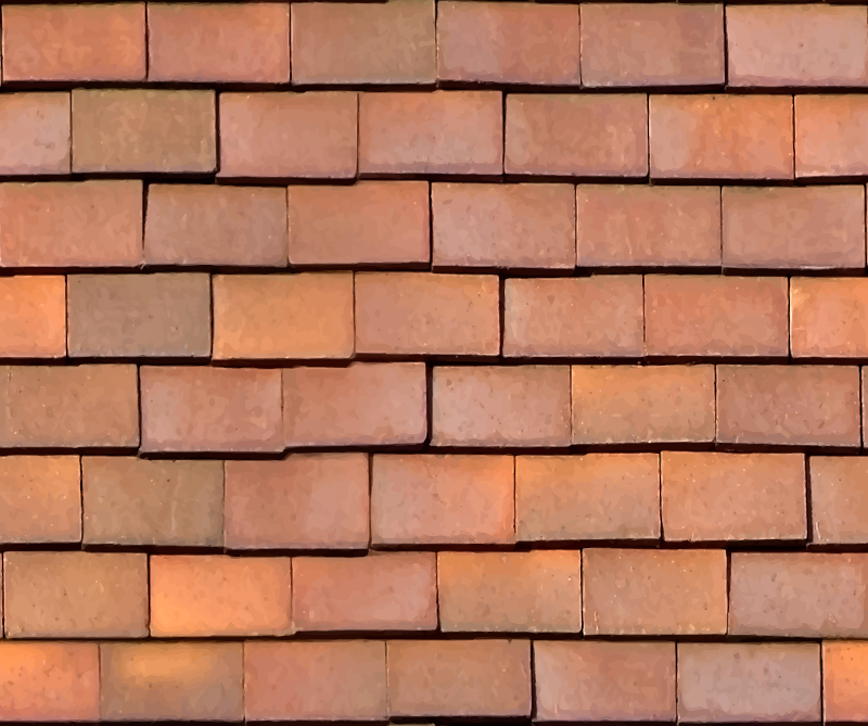 Loose clay roof tiles