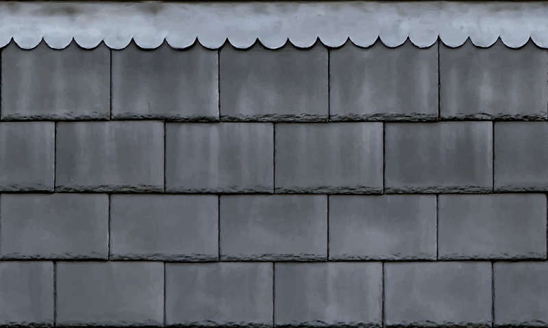 Roof shingles with a lead pattern