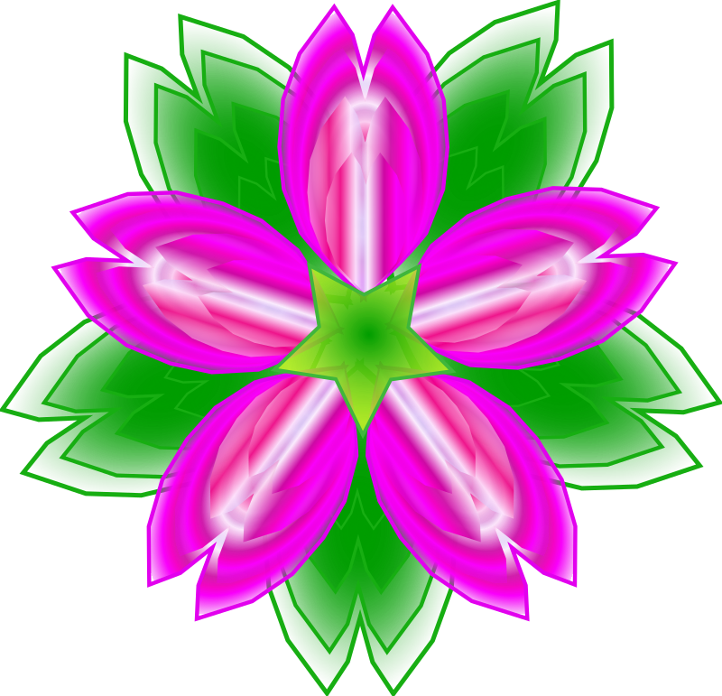 Five-petalled flower