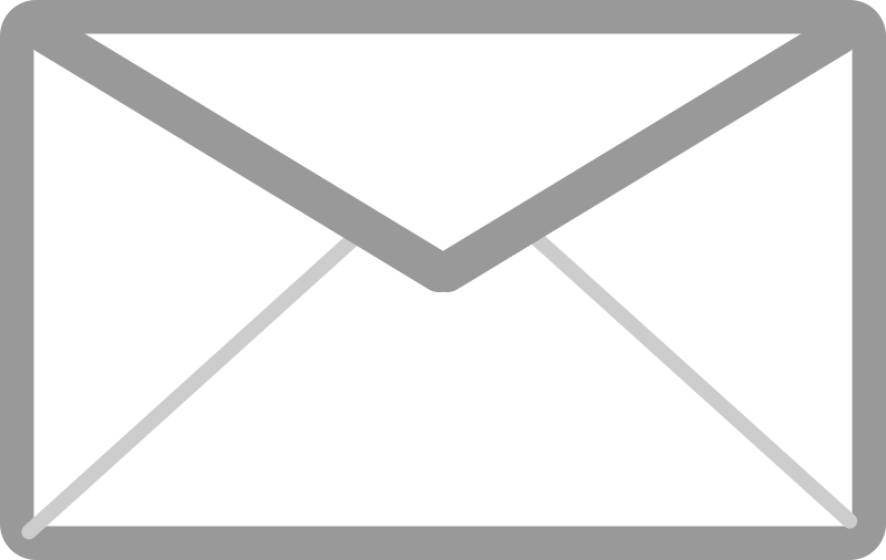 Gray and White Mail Icon